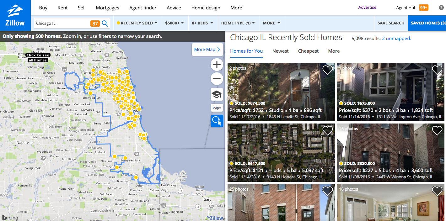 Chicago House Search