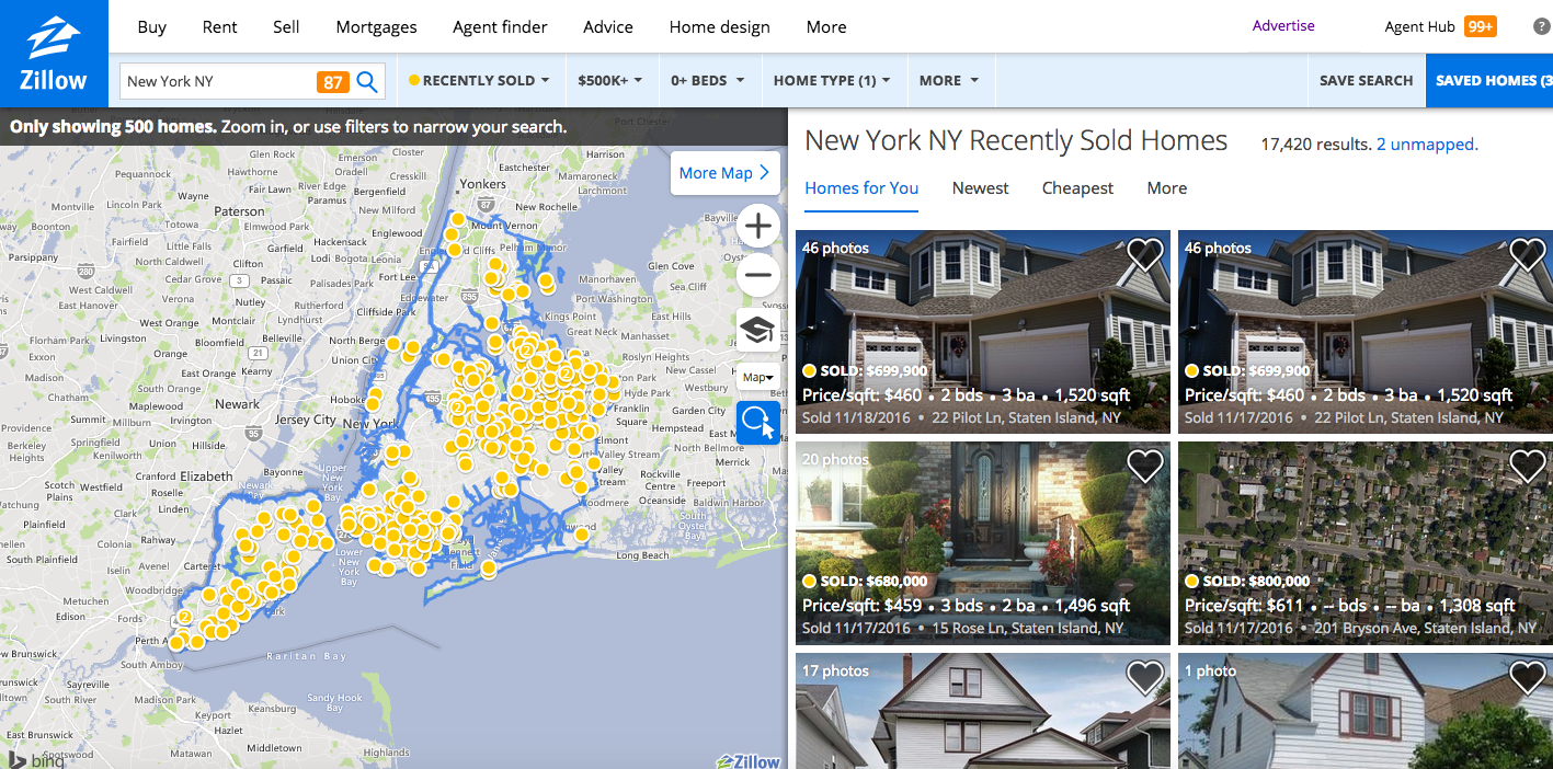 New York House Search