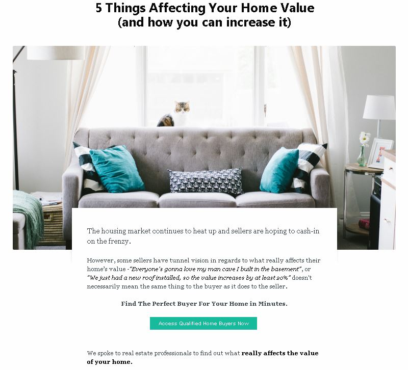 Value-to-home